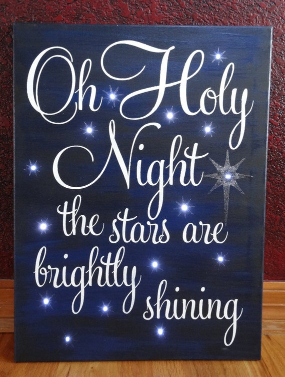 Oh holy night the stars are brightly by cherrycreekcrafts for O holy night decorations