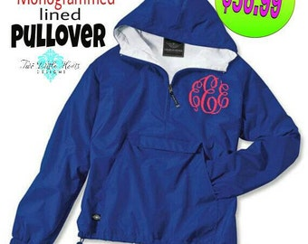 Charles River Classic Pullover ~ Monogram Pullover Jacket ~ Monogrammed Jacket ~ Monogrammed Pull Over ~  Classic Solid Pullover