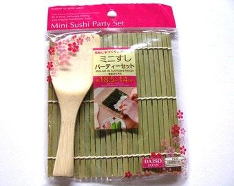 Mini Makisu Sushi Rolling Mat, Temaki Sushi, Bamboo Rolling Mat, Sushi Making Tool Set, Handmade Sushi Bento Lunch, Japanese Sushi Party Set