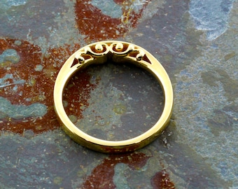 "Yellow Gold ""India"" Petticoat Ring, READY TO SHIP!"