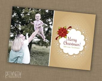 PRINTABLE Christmas Photo Greeting Card