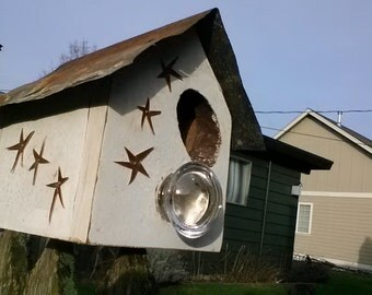 Birdhouse with Copper stars