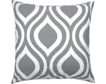 Cushion cover 40 x 40 cm grey white EMILY