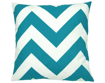 ZIPPY turquoise and White Cushion cover 40 x 40 cm