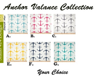 Anchor  Valance. Anchor  Window Treatment.Anchor  Window Valance.Anchor Valance.Anchor  window Treatment