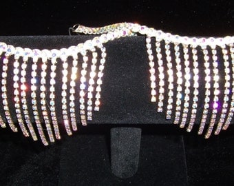 Pair of Austrian Crystals Chain Anklets