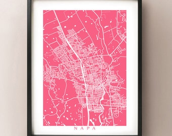 Napa Map Print - California Poster