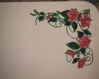 Step Stool // Flower and Vine Design
