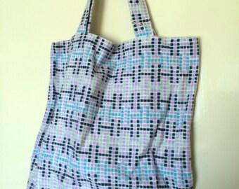 Geometric Print Tote Bag