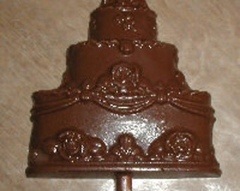 Wedding Cake Lolly Chocolate Mold