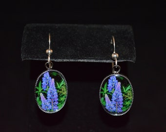 Lupine Earrings, Pendant, or Set