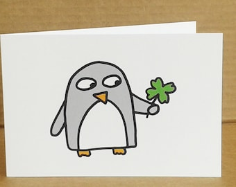 Good Luck Card - Funny Penguin
