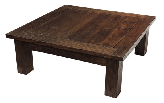 Clearance Sale Solid Elm Wood Coffee Table By Terra By Terranovala