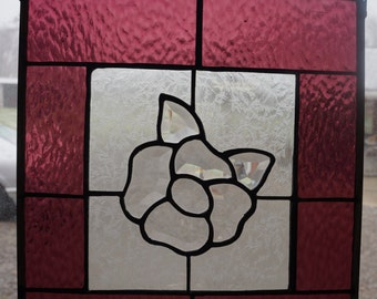Beveled Flower in Stained Glass