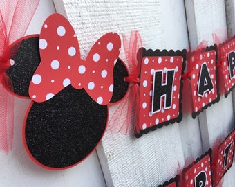 Minnie mickey birthday banner