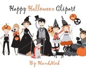Cute halloween Clipart, Halloween Clipart, Instant Download PNG file - 300 dpi