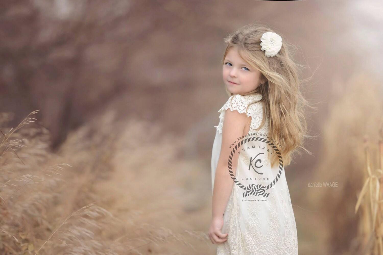 Flower Girl Hair Clip Flower Girl Rhinestone by KhambralCouture