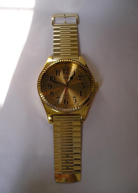 Vintage Giant Wristwatch Wall Clock Plastic Metal