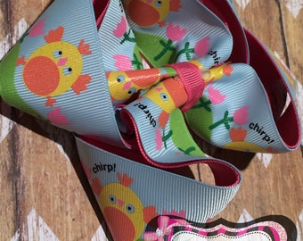 Easter twisted boutique bow