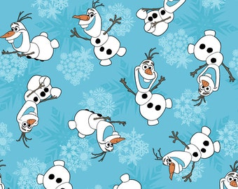 Disney Fabric Frozen Fabric Olaf Snowflakes Fabric From Springs Creative