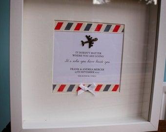 Anniversary wedding travel frame