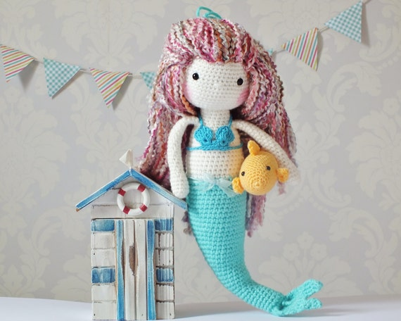 Crochet Patterns Mermaid : Crochet Amigurumi Mermaid PATTERN ONLY PDF Instant Download Mermaid ...
