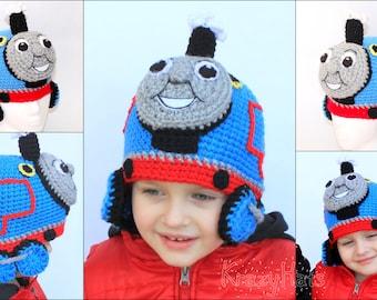 Crochet Thomas the train hat.