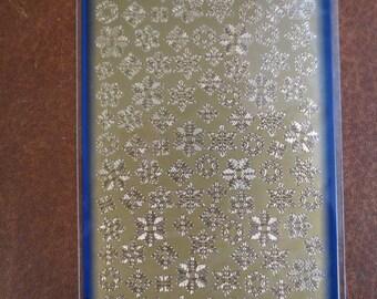 Gold snowflakes Starform sticker 8530gg
