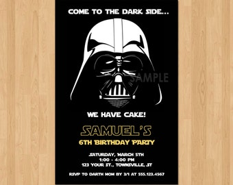Darth Vader Invitation, Star Wars Birthday Invitation, Star Wars Invitation Birthday Party Invite, Darth Vader Birthday Party Printable