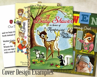 Little Golden Books Invitation for a Birthday or Shower - Listing for Front Design of Your Book Choice