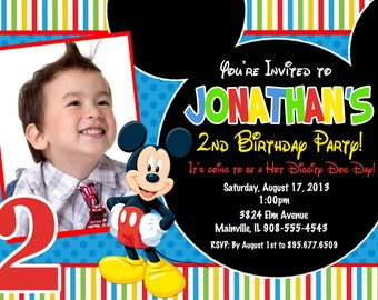 Mickey Mouse Clubhouse Birthday Party Invitation - Digital or Printed