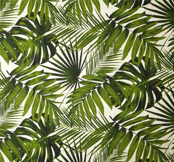 Palm Leaves Tropical Table Runner Coastal By Mybeachsidestyle