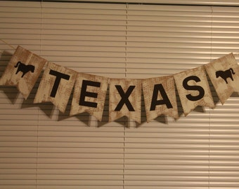 Texas Photo Prop Banner