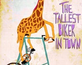 The tallest biker in town