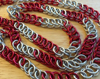 Ohio State Chainmaille Necklace