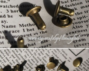 100set 8mm Round Rivets and Studs for Handbag making,Copper double cap Rivets,Bronze metal Rivets