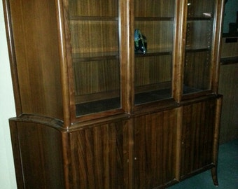 T. H. Robsjohn Gibbings Widdicomb RARE Cabinet & Credenza 1940's 2 Pieces Rarely Seen Together