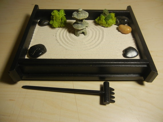 S 03p Small Desk Or Table Top Zen Garden By Critterswoodworks