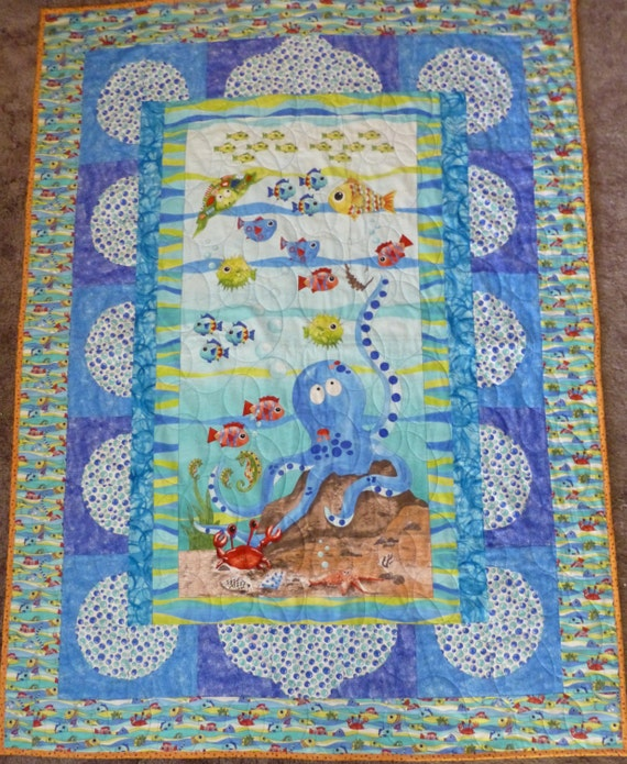 Quilt Kit Under The Sea Designed By Cyndi Hershey Pattern