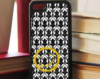 """Sherlock  """"Bored Smiley"""" themed  Fan Art iPhone/iPod Case"""