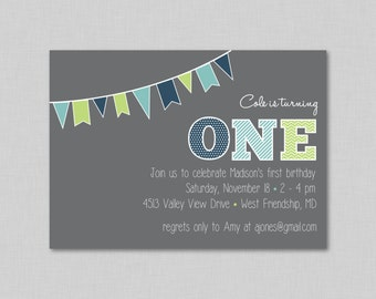 First Birthday Invitation, First Birthday, First Birthday Party Invitation, 1st Birthday, 1st Birthday Party Invitation, Birthday Invite