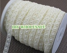 10MM ivory and white  Faux pearl decoration string / Garland for wedding favors crafts / DIY accessories 25Meter / roll