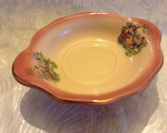 Antique Vintage Courting Couple Sweet Bowl