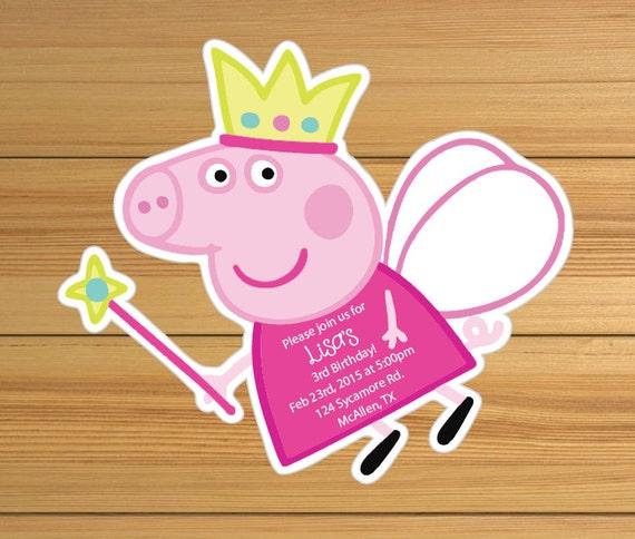 Peppa Pig Birthday Invitation as adorable invitations example