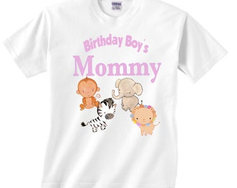 jungle theme Birthday boy's mom or dad shirt for adults - Long sleeve available