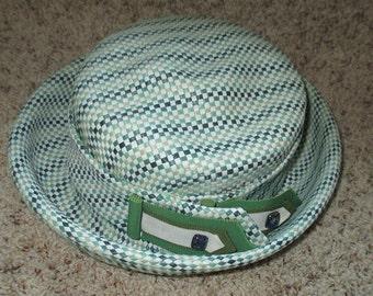 Vintage Talbert Original Green and White Checkered Hat
