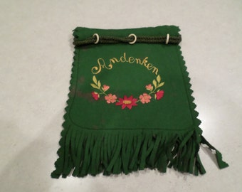 "Green Felted Bag ""Andenken"""