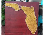 State String Art, Florida State String Art, Any State String Art, Custom String Art