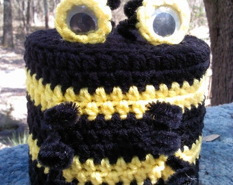 toilet paper cover,crochet bee,bathroom,