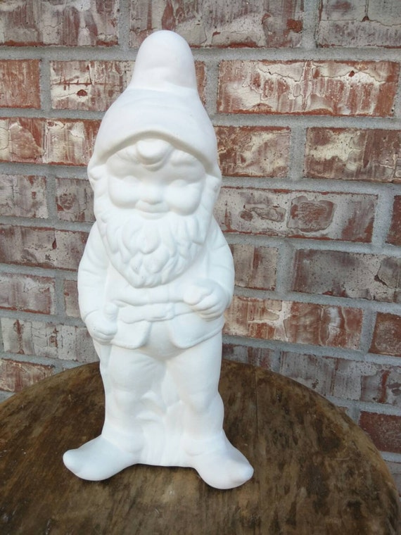 Gnome In Garden: Large / Tall Standing Garden Gnome Paint Your Own Gnomes